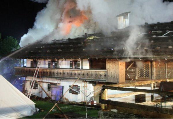 Hotelbrand in Traunstein am 23.05.15
