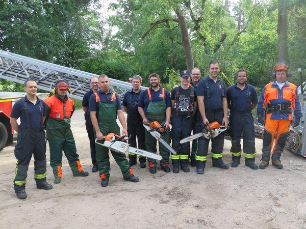 Kettensägenlehrgang Feuerwehr Alzenau - Arbeitschutz - Arbeitssicherheit